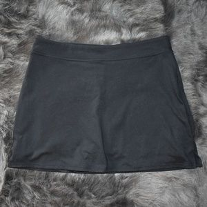 Black super stretchy skirt with built in shorts